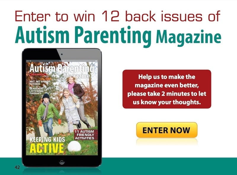 Take our survey about Autism Parenting and win 12 months free back issues or a 12 month subscription