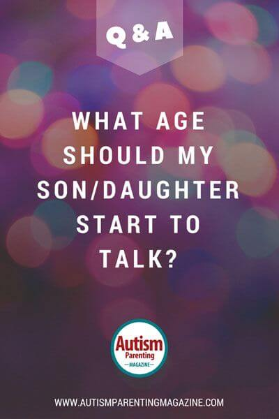 What Age Should My Child with Autism Start To Talk?