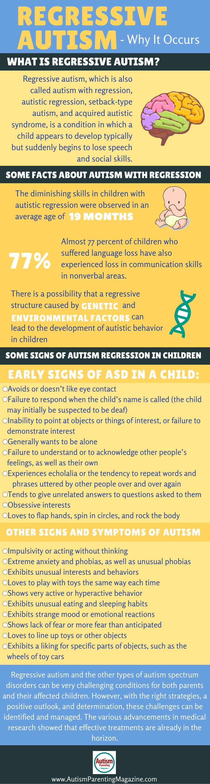 Download our Free Guide - What is Regressive Autism? https://www.autismparentingmagazine.com/what-is-regressive-autism