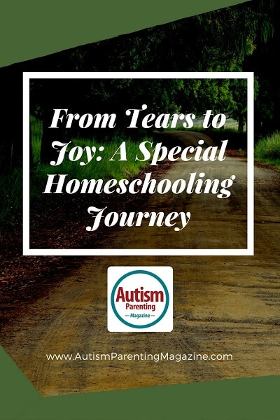 From Tears to Joy: A Special Homeschooling Journey http://www.autismparentingmagazine.com/special-homeschooling-journey/