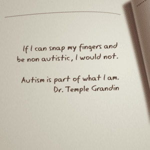 autism quote notepad