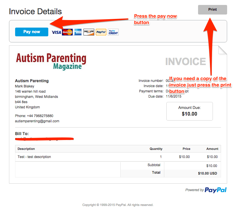 paying an invoice autism parenting magazine