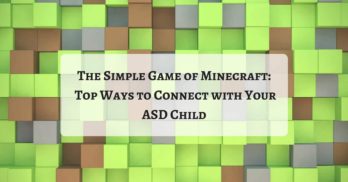 Connect with your ASD child with Minecraft