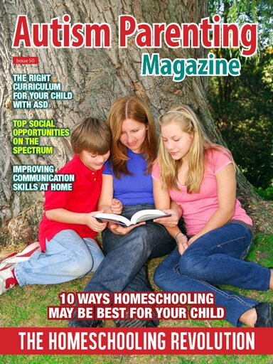 Homeschooling for Autism. Read our guide - 10 ways homeschooling may be best for your child. https://www.autismparentingmagazine.com/issue-50-homeschooling-revolution/?utm_source=Pinterest&utm_medium=Promoted-Pin&utm_campaign=PinterestHomeschooling