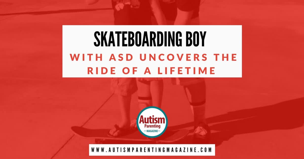 Skateboarding Boy with Autism