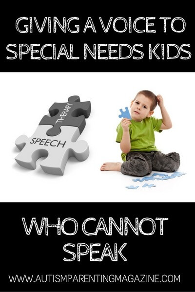 Giving a Voice to Special Needs Kids Who Cannot Speak