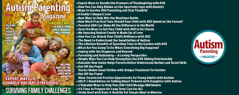 Autism Parenting Magazoine Issue 54 Features