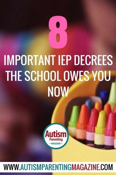 8 Important IEP Decrees the School Owes You Now! https://www.autismparentingmagazine.com/important-iep-decrees-at-school