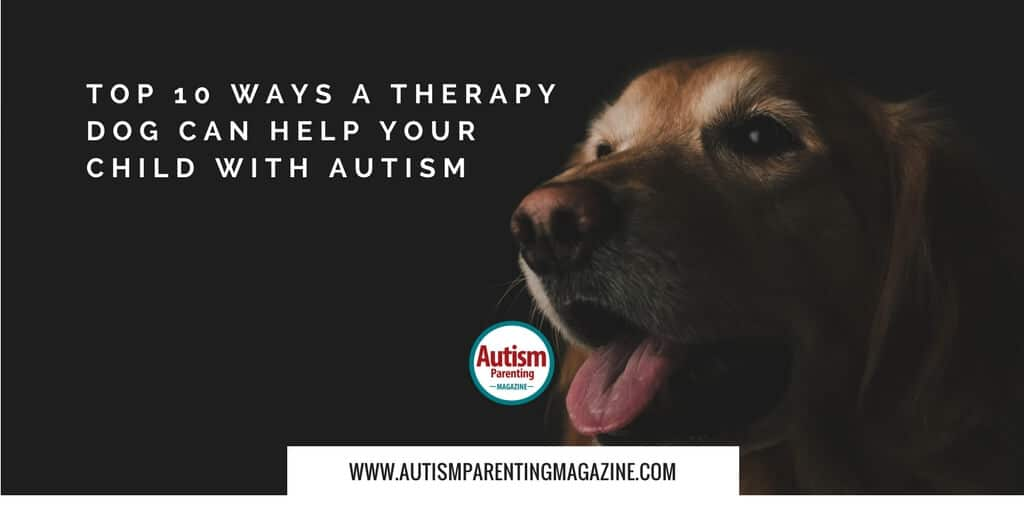 Top 10 Ways a Therapy Dog Can Help Your Child with Autism http://www.autismparentingmagazine.com/therapy-dog-can-help/