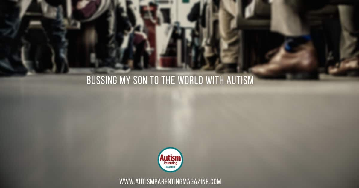 Bussing My Son To The World with Autism https://www.autismparentingmagazine.com/bussing-my-son-world-with-autism