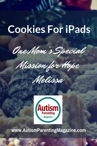 Cookies For iPads – One Mom's Special Mission for Hope http://www.autismparentingmagazine.com/cookies-for-ipads/
