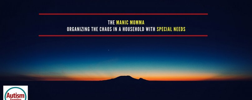 The Manic Momma – Organizing the Chaos in a Household with Special Needs