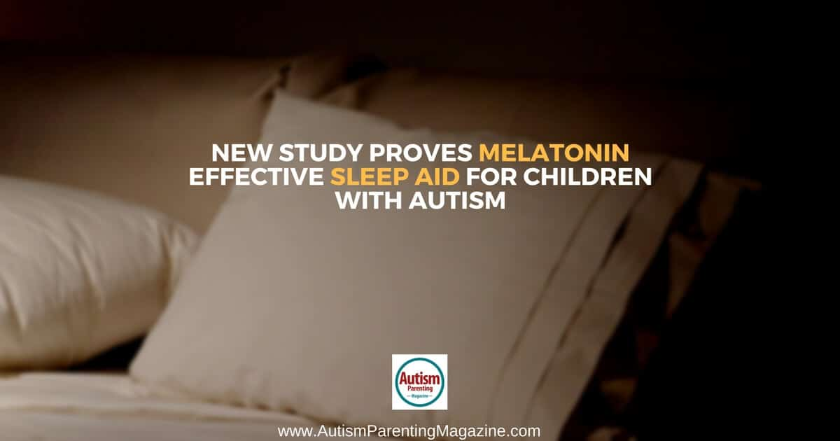 New Study Proves Melatonin Effective Sleep Aid for Children with Autism https://www.autismparentingmagazine.com/study-melatonin-effective-sleep-aid-children