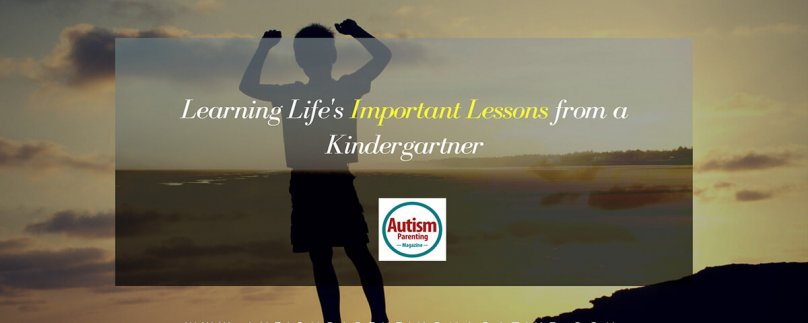 Learning Life's Important Lessons from a Kindergartner