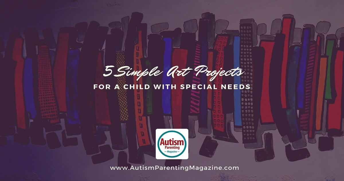 5 Simple Art Projects For a Child with Special Needs https://www.autismparentingmagazine.com/art-projects-for-special-needs/