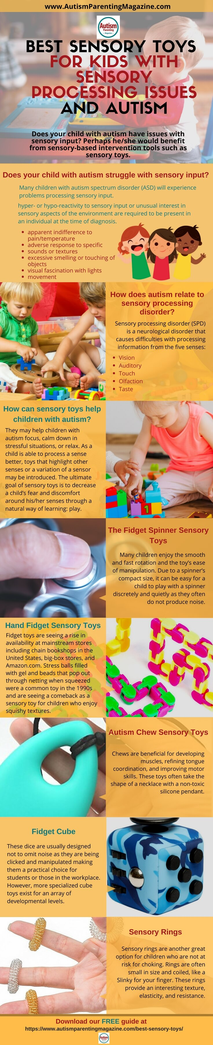 Download our Free Guide - Best Sensory Toys for Kids with Sensory Processing Issues and Autism https://www.autismparentingmagazine.com/best-sensory-toys/
