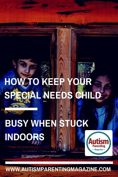 How to Keep Your Special Needs Child Busy When Stuck Indoors http://www.autismparentingmagazine.com/keeping-your-special-needs-child-busy-when-stuck-indoors