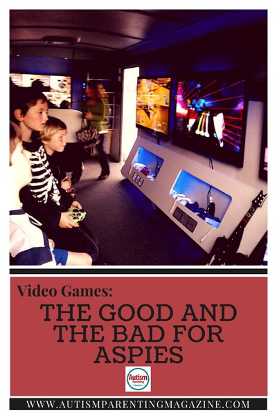 Video Games: The Good And The Bad for Aspies http://www.autismparentingmagazine.com/video-games-for-autism-child/