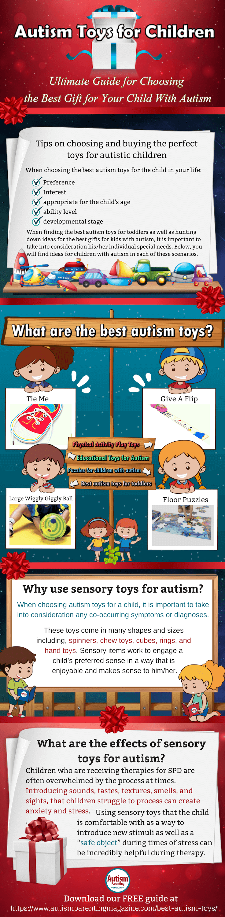 What are the best toys for autistic children infographic