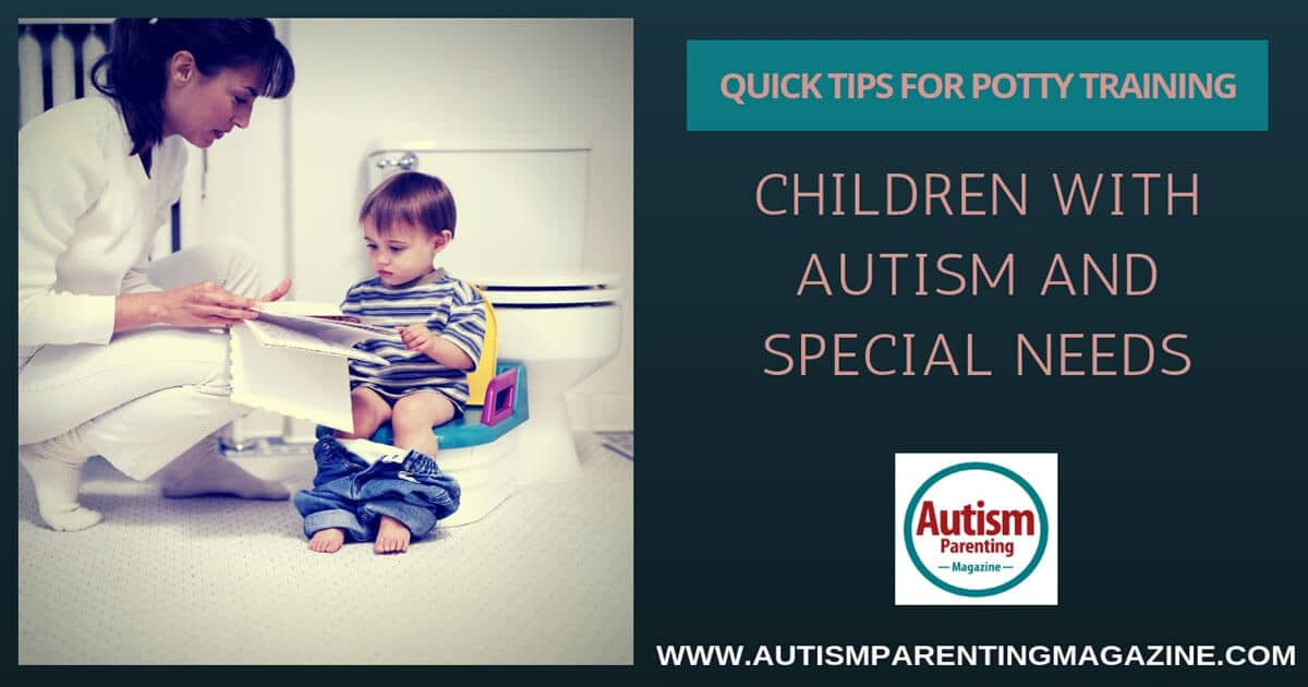 Quick Tips for Potty Training Children With Autism and Special Needs https://www.autismparentingmagazine.com/potty-training-with-special-needs/