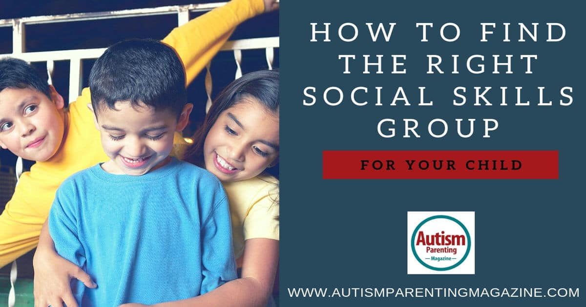 How to Find the Right Social Skills Group for Your Child https://www.autismparentingmagazine.com/social-skills-group-for-children/