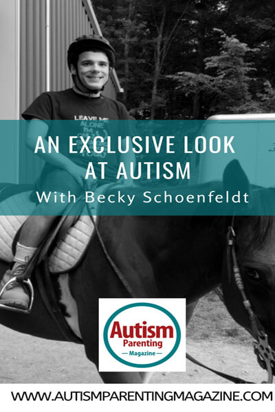 An Exclusive Look at AUTISM With Becky Schoenfeldt https://www.autismparentingmagazine.com/exclusive-look-autism-becky-schoenfeldt/