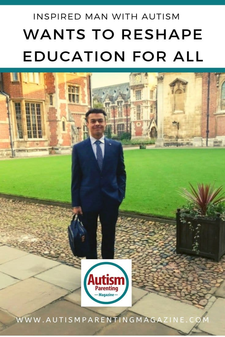 Inspired Man With Autism Wants to Reshape Education For All https://www.autismparentingmagazine.com/inspired-man-autism-reshape-education/