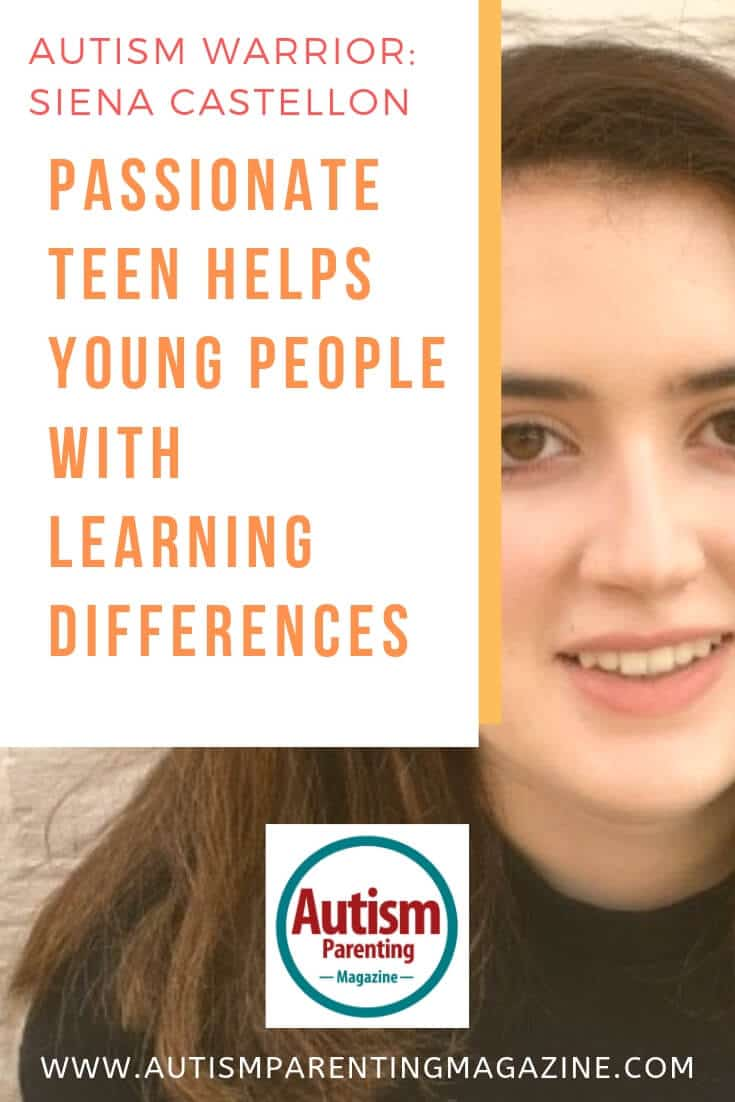 Autism Warrior Siena Castellon Passionate Teen Helps Young People With Learning Differences https://www.autismparentingmagazine.com/siena-castellon-young-people-learning/