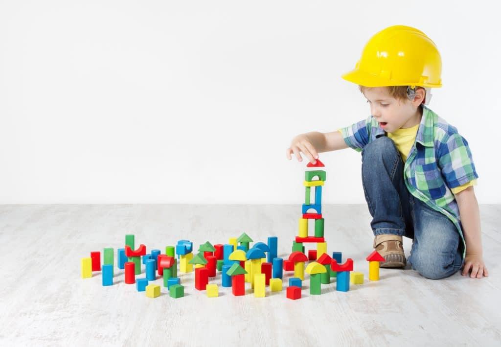 Kid Playing Blocks