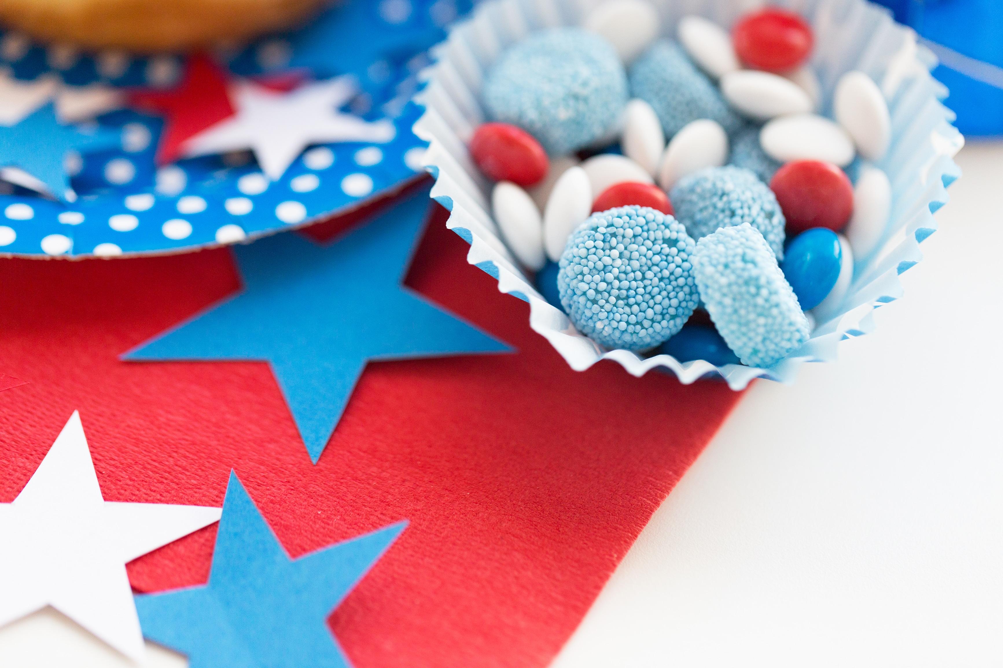 confetti and candies