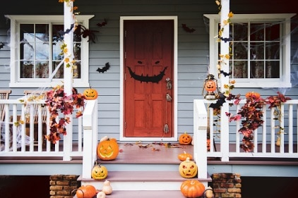 house with halloween designs