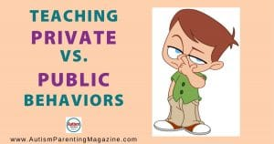 Teaching Private vs. Public Behaviors