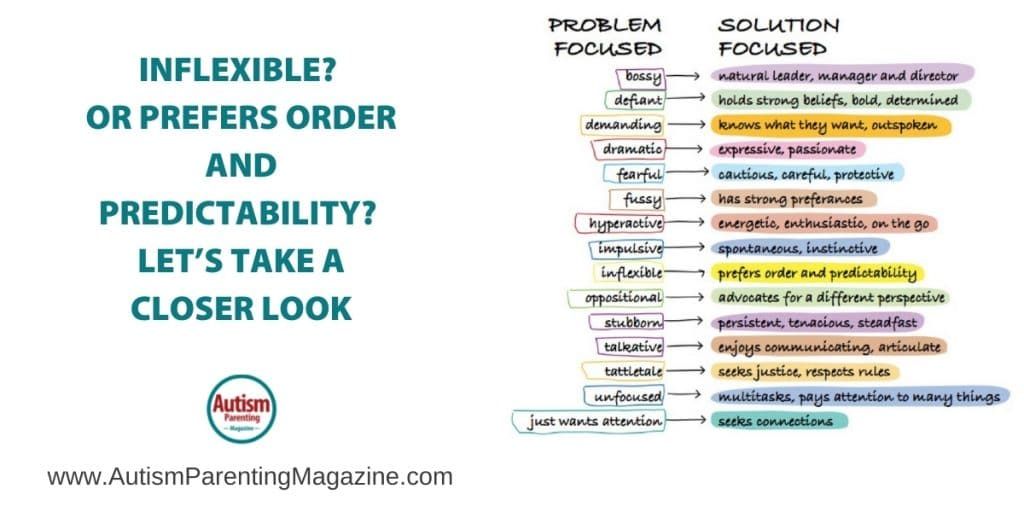 Inflexible? Or Prefers Order and Predictability? Let's Take a Closer Look